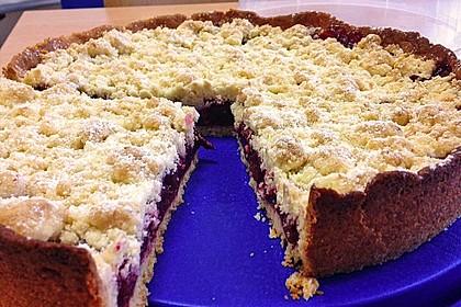Kirsch-Himbeer-Kuchen mit Kokosstreuseln 22