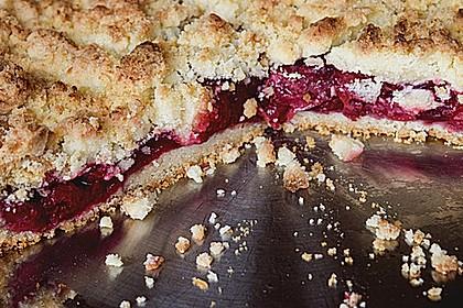 Kirsch-Himbeer-Kuchen mit Kokosstreuseln 16