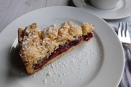 Kirsch-Himbeer-Kuchen mit Kokosstreuseln 2