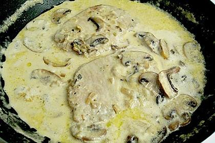 Steak in Champignon - Rahm - Sauce 3