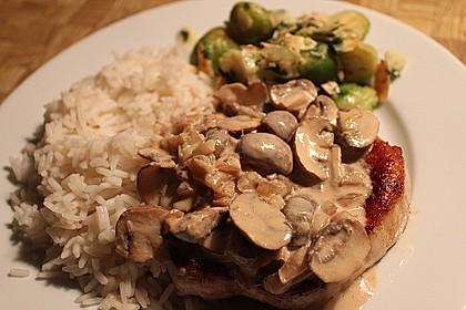 Steak in Champignon - Rahm - Sauce