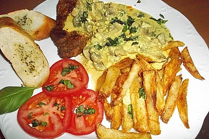 Steak in Champignon - Rahm - Sauce 2