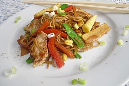 Chinesische Bratnudeln mit Hähnchen 2