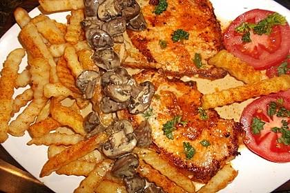 Champignon - Zwiebel - Rahm - Schnitzel 6