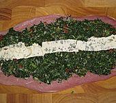 Schweinefilet mit Spinat - Schimmelkäse Füllung (Bild)