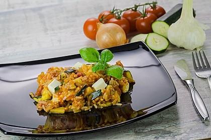 Zucchini - Reis - Pfanne a la Helene