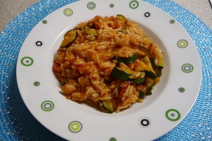 Zucchini - Reis - Pfanne a la Helene 14