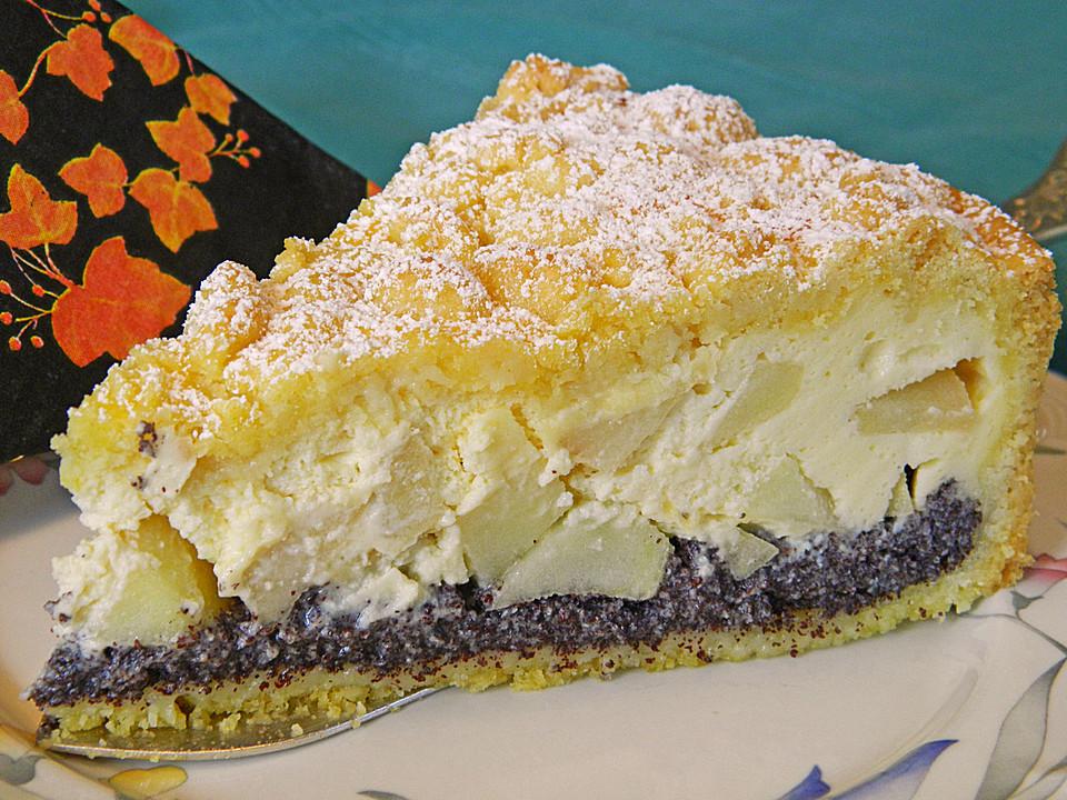 Torte mit mohn und quark