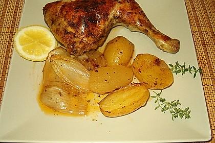 Hähnchenschenkel in Zitronen - Knoblauch - Sauce 1