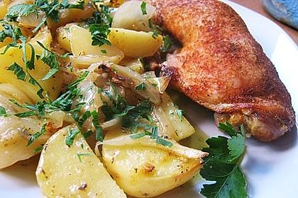 Hähnchenschenkel in Zitronen - Knoblauch - Sauce 2