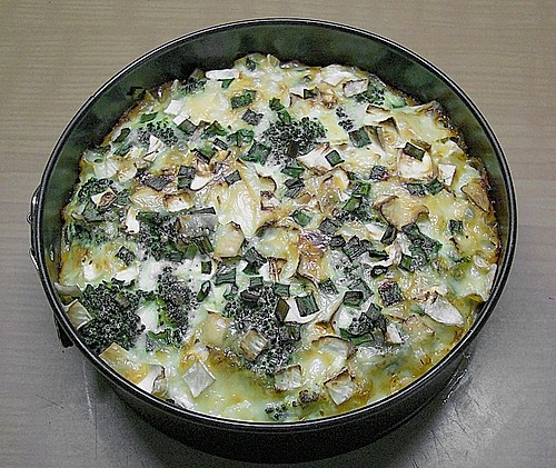 Brokkoli - Camembert - Quiche 1