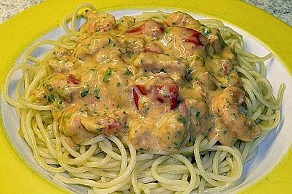 Sahnige Pasta mit Lachs und Krebsfleisch 2