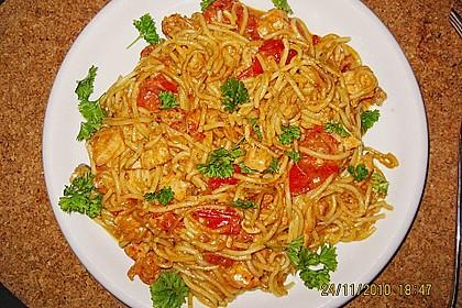 Sahnige Pasta mit Lachs und Krebsfleisch 5