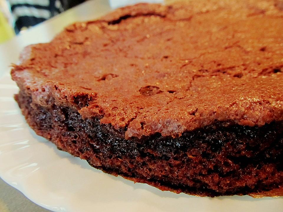Franzosischer schokoladenkuchen mit flussigem kern rezept