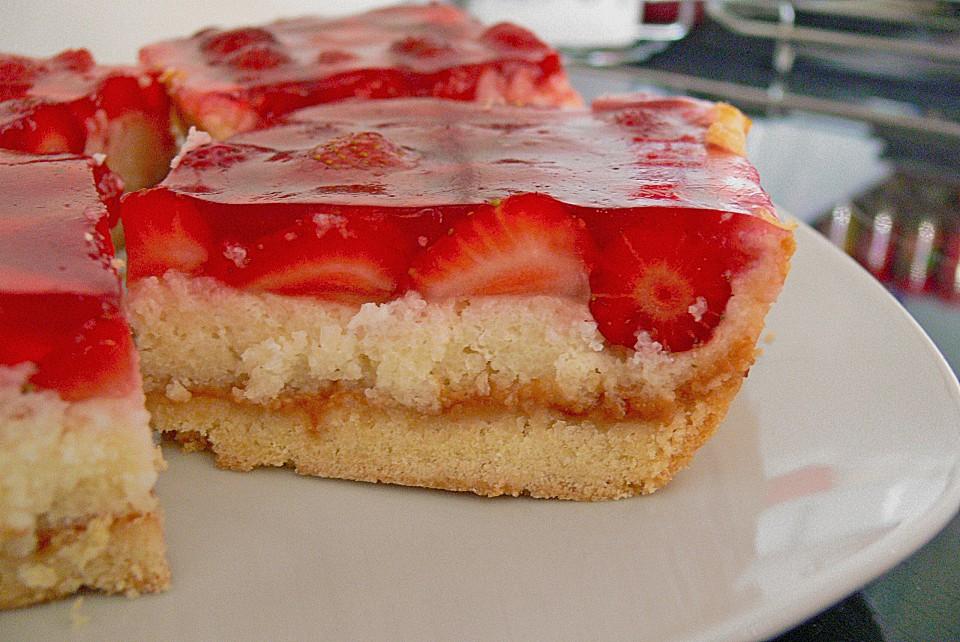 Kuchen aus erdbeeren