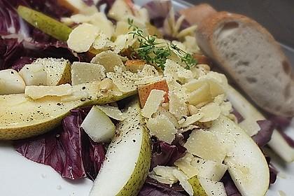 radicchio birnen salat mit waln ssen und parmesan von elanda. Black Bedroom Furniture Sets. Home Design Ideas
