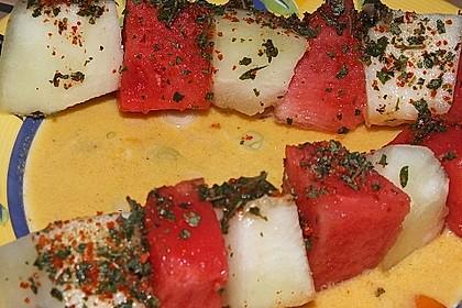 Scharfe Melonenspieße 2