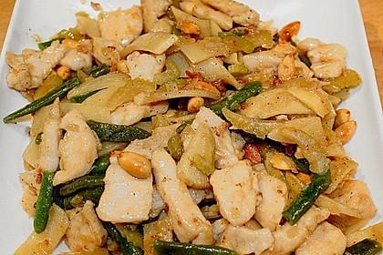 Hühnerfleisch mit Bambus und Mandeln 2