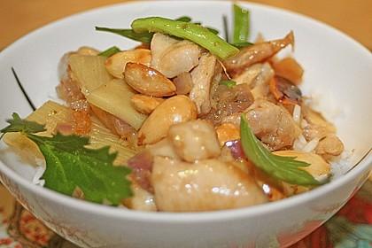 Hühnerfleisch mit Bambus und Mandeln 1