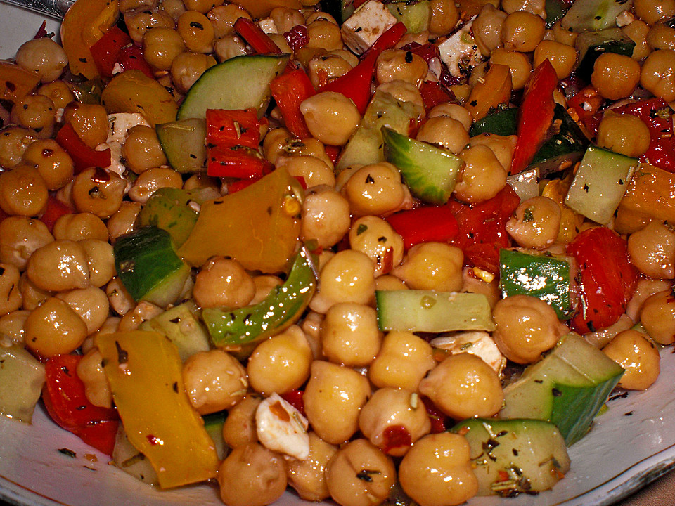 Salat rezepte kichererbsen