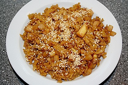 Wok - Nudeln mit gebratenem Spargel 1