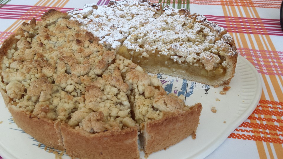 veganer apfel streusel kuchen rezept mit bild. Black Bedroom Furniture Sets. Home Design Ideas