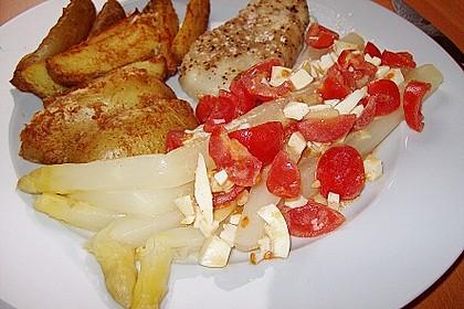 Spargel mit Tomaten - Vinaigrette und Ei 17