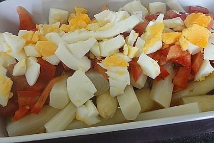 Spargel mit Tomaten - Vinaigrette und Ei 15