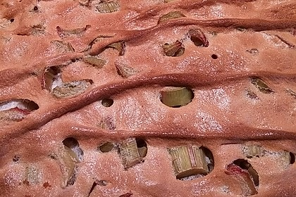 Rhabarber - Blechkuchen 1