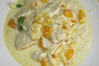 Curry - Hähnchen mit Aprikosen 9