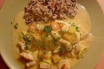 Curry - Hähnchen mit Aprikosen