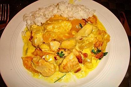 Curry - Hähnchen mit Aprikosen 1