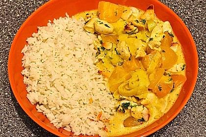 Curry - Hähnchen mit Aprikosen 7