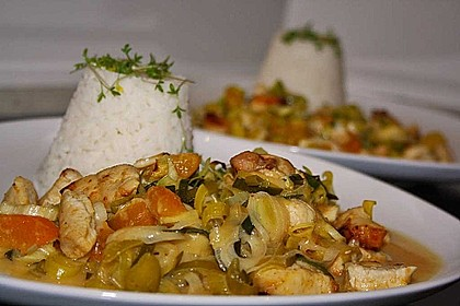 Curry - Hähnchen mit Aprikosen 6