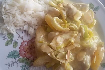 Curry - Hähnchen mit Aprikosen 13