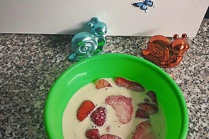 Erdbeeren in Milch 10