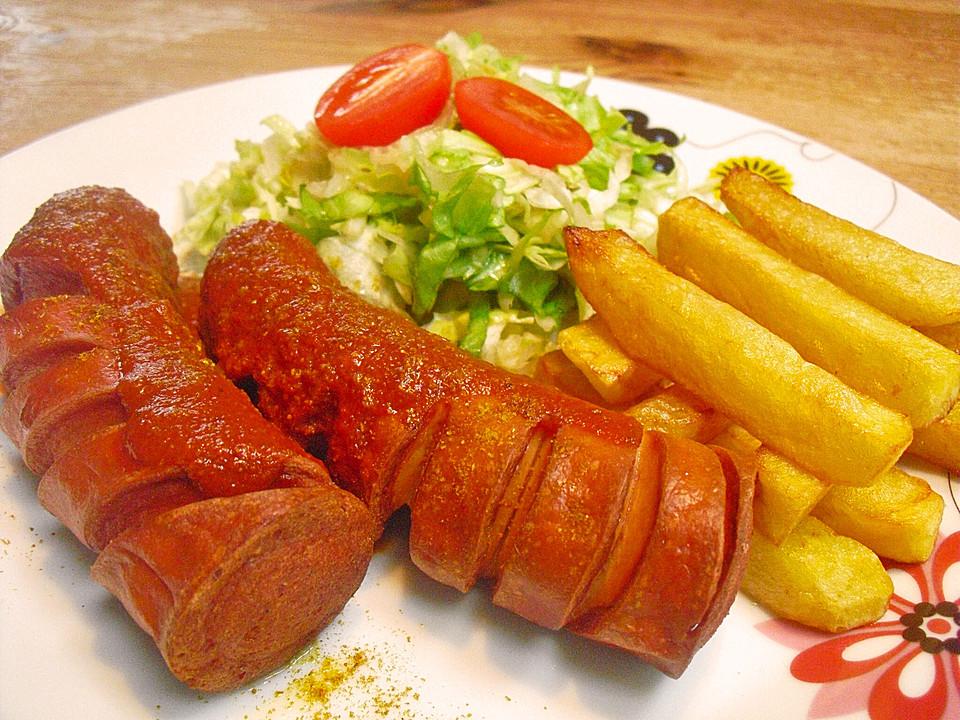 Currywurst mit Pommes von Scansano   Chefkoch.de