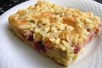 Wandelbarer Blechkuchen mit Butter - Mandelkruste 1