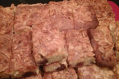 Wandelbarer Blechkuchen mit Butter - Mandelkruste 6