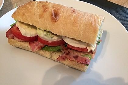 Caprese Bacon Ciabatta Sandwich 23