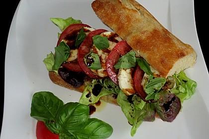 Caprese Bacon Ciabatta Sandwich 7