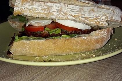 Caprese Bacon Ciabatta Sandwich 21