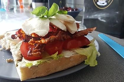 Caprese Bacon Ciabatta Sandwich 20