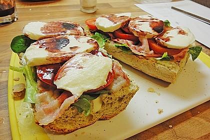 Caprese Bacon Ciabatta Sandwich 14