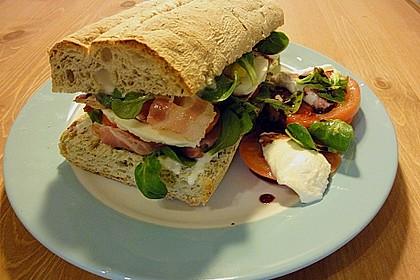 Caprese Bacon Ciabatta Sandwich 1