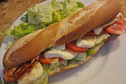 Caprese Bacon Ciabatta Sandwich 5
