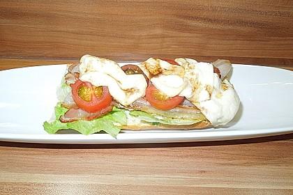 Caprese Bacon Ciabatta Sandwich 22