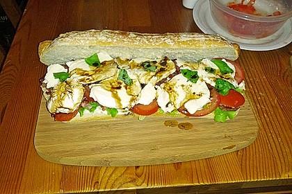 Caprese Bacon Ciabatta Sandwich 17