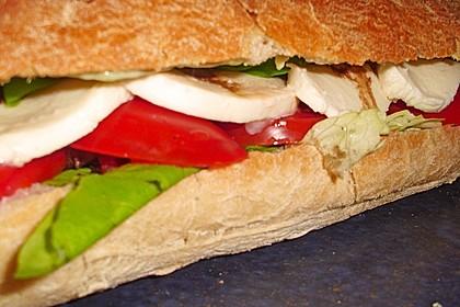 Caprese Bacon Ciabatta Sandwich 12