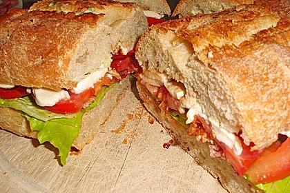 Caprese Bacon Ciabatta Sandwich 11